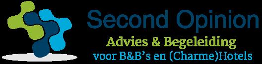 Logo Second Opinion, Advies en begeleiding voor B&B's en (Charme)Hotels